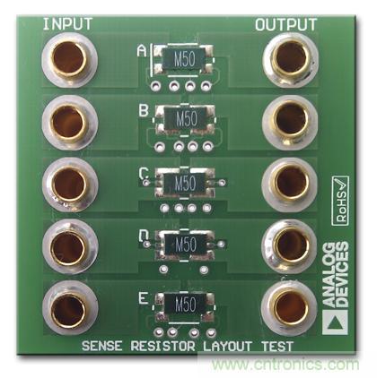 改进低值分流电阻的焊盘布局,优化高电流检测精度