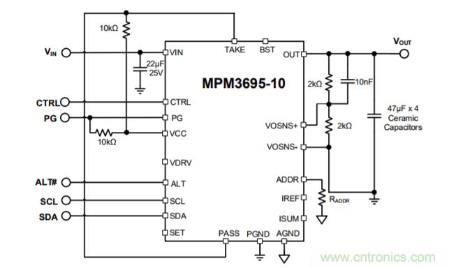 16V,10A,可扩展且带PMBus接口的超薄DC/DC电源模块