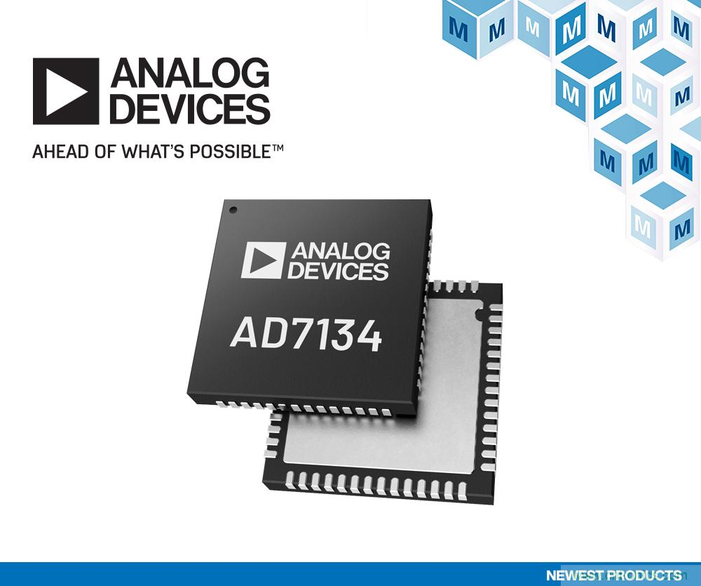贸泽电子开售Analog Devices AD7134精密无混叠ADC