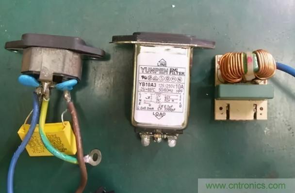 交流输入端EMI滤波电路常见的组件