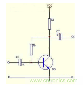 三极管偏置电路:电压负反馈偏置电路