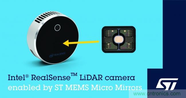 ST与英特尔合作推出一款有环境空间扫描功能的MEMS微镜