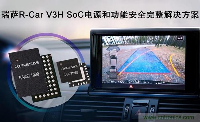 瑞萨电子推出完整的电源和功能安全解决方案,适用于R-Car V3H ADAS摄像头系统