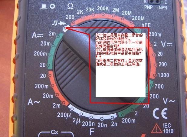 2/2 1.万用表的结构(500型) 万用表由表头、测量电路及转换开关等三个主要部分组成。 (1)表头:它是一只高灵敏度的磁电式直流电流表,万用表的主要性能指标基本上取决于表头的性能。表头的灵敏度是指表头指针满刻度偏转时流过表头的直流电流值,这个值越小,表头的灵敏度愈高。