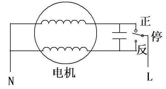 电源管理中的单相电机正反转接线图