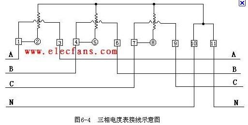 三相电表接线图二